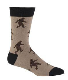 Sock It To Me Sasquatch Brown Men's Crew Socks Sock It To Me http://www.amazon.com/dp/B00ECGKZVW/ref=cm_sw_r_pi_dp_4LqCwb0PBD226