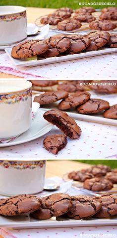 Galletas de Brownie Biscuit Cookies, Cake Cookies, Cupcake Cakes, Cookie Desserts, Chocolate Desserts, Brownie Recipes, Cookie Recipes, Dessert Chef, Sashimi