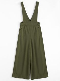 SHARE & Get it FREE | Plunge Suspender Wide Leg Jumpsuit - Army Green MFor Fashion Lovers only:80,000+ Items • New Arrivals Daily Join Zaful: Get YOUR $50 NOW!