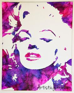 Marilyn Monroe Melted Crayon Art Tutorial - Would be cool to try with other portraits Crayon Art Tutorials, Crayon Crafts, Portrait Au Crayon, Portrait Paintings, Crayola Art, Marilyn Monroe Art, Stencil Art, Stencils, Melting Crayons