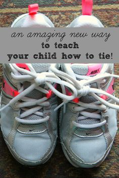 An incredible NEW way to teach your child to tie their shoes. My kids learned in a mere 5 minutes. You must see this tutorial!
