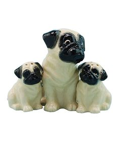 Mother & Baby Pugs Salt & Pepper Shakers