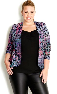 City Chic - PRETTY GEO JACKET - Women's plus size fashion #citychic #citychiconline #newarrivals #plussize #jackets