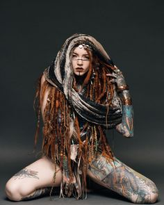 Body art tattoos, sexy tattoos, tattoos for women, girl tattoos, tattoo ink Sexy Tattoos, Body Art Tattoos, Girl Tattoos, Tattoos For Women, Tattoo Ink, Character Inspiration, Character Art, Dreads Girl, Fantasy Girl
