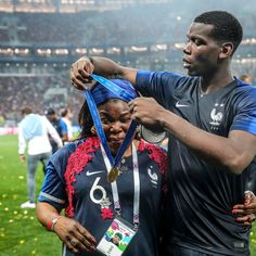 One of the real MVPs And for those really looking for controversy sure hes French its undeniable but his mom is African And Im sure the celebration dinner isnt escargot and foie gras only. Antoine Griezmann, Soccer Players, Football Soccer, Basketball, Paul Pogba, France World Cup 2018, Champion Du Monde Foot, France National Football Team, Man United