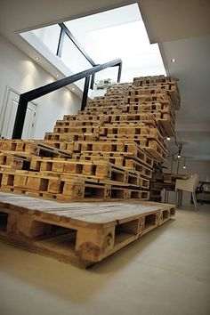 pallet stairs by Dutch firm Most Architecture
