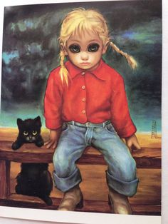 Big Eyes Card by Artist Margaret Keane Walter by papermoonandmore