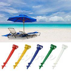 Sun Beach Garden Patio Umbrella Holder Parasol Ground Anchor Spike Fishing Stand