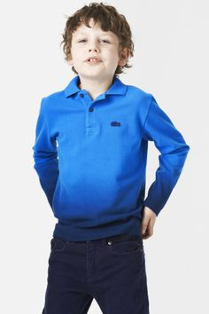 26d6dc8d7 Lacoste Boy s Short Sleeve Tri-color Tipped Collar Pique  Polo