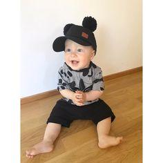 Rodidas t-shirt with black cap & shorts Bucket Hat, Baby Boy, Cap, Shorts, Boys, T Shirt, Black, Fashion, Baseball Hat