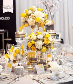 Decoration mariage noir jaune