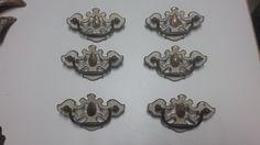 Set of 6 Vintage Brass Dresser Handles by DEGFURNITUREDESIGNS on Etsy