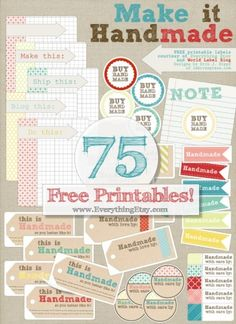 Free_Printable_Label_Handmade LOTS of 5160 avery label templates.