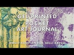 Hi there and welcome to the Gelli Arts® blog! It's Birgit here today and I am sharing with you how you can create a litt...