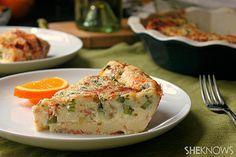 Bisquick quiche with asparagus, cheddar and crispy prosciutto recipe