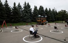 Photos of the Week:Chief Mouser, Drone Star, Ice Swimmer - The Atlantic Photos Of The Week, Roller Skating, Empty, New York City, Colorado, Chairs, Ice, Aspen Colorado, Stool