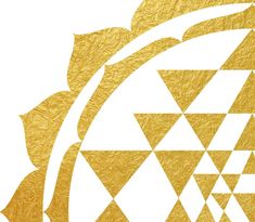 Geometric drawing of Shree Yantra(detail) in gold foil texture. Download this great artwork instantly and decorate your home or office, create original gifts! You can print it in your home or bring it to a professional print studio. After your purchase, you will get 5 files: 11'' x