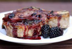 Used raspberries instead of blackberries, white wine instead of vermouth and no jam. Wonderful!