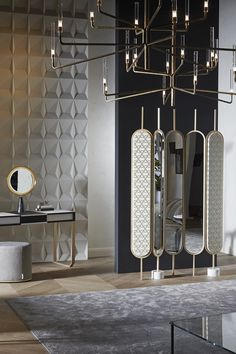 Sophisticated, intimate and elegant interiors Art Deco, Luxury Furniture, Furniture Design, Antique Furniture, Modern Furniture, Rustic Furniture, Spiegel Design, Partition Design, Partition Screen