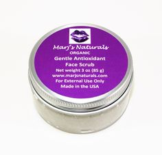 A personal favorite from my Etsy shop https://www.etsy.com/listing/287549559/gentle-antioxidant-face-scrub-organic We're making your scrubbing experience the most pleasant one with this gentle yet exfoliating antioxidant-loaded organic face scrub. http://www.marjsnatursls.com/