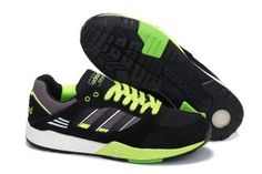Uomo Adidas Originals Tech Super Low Scarpe da running Verde neon Antracite offerta online