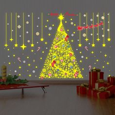 Magical Christmas Glow Wall Decal
