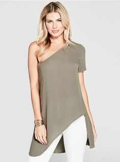 051f2a48566 Electra One-Shoulder Top at Guess