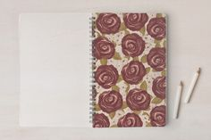 Marsala Roses Notebooks by Ana de Sousa at minted.com