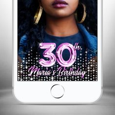 Snapchat Filter Birthday Snapchat Geofilter Birthday Snapchat Birthday Geofilter Birthday Filter Birthday Silver Glitter Snap Chat Party Funny Filters, Snapchat Birthday, Snapchat Filters, Silver Glitter, Invitations, Trending Outfits, Unique Jewelry, Handmade Gifts, Party