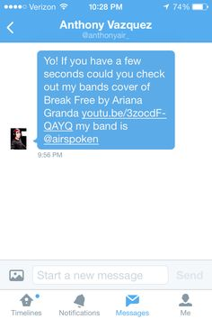 DM from Anthony