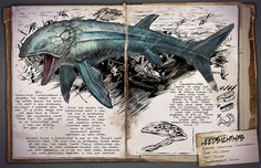 The ARK Devs have released a new Dossier, this one is everyone's favorite gargantuan beast of the waters, the Leedsichthys! Fantasy Creatures, Mythical Creatures, Game Ark Survival Evolved, Cool Dinosaurs, Dinosaur Photo, Survival Books, Wolf Love, Prehistoric Creatures, Sea Monsters