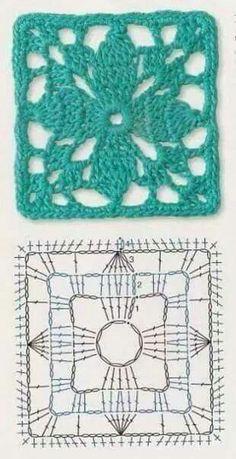 Transcendent Crochet a Solid Granny Square Ideas. Inconceivable Crochet a Solid Granny Square Ideas. Crochet Motifs, Granny Square Crochet Pattern, Crochet Blocks, Crochet Diagram, Crochet Stitches Patterns, Crochet Chart, Crochet Squares, Love Crochet, Crochet Flowers
