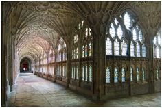 Gloucester Cathedral Cloisters. Filming for the first two Harry Potter movies took place in the Cloisters of Gloucester's stunning cathedral.