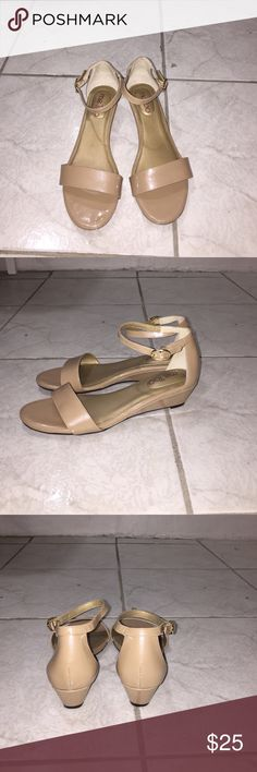 Me Too sandals Me Too sandals. Color beige. Material patent. Size 6. No box. me too Shoes Sandals