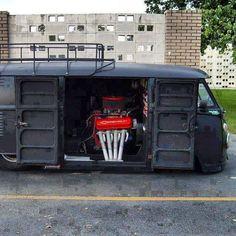 VW bus, slightly modified: