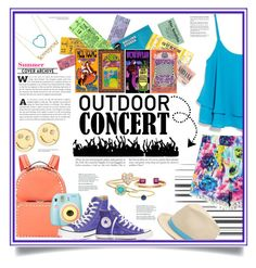 """""""Outdoor Summer Concert - Colors"""" by laurenjane47 ❤ liked on Polyvore featuring Jennifer Meyer Jewelry, Sydney Evan, Peter Grimm, Valentino, MANGO, Polaroid, Converse and outdoorconcert"""