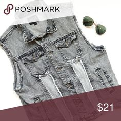 {Mens} Rude acid wash vest In perfect condition! Awesome punk denim acid wash vest to wear anytime. You will definitely rock in this vest. Has fraying down the vest and around the arms . Colors are black and gray. From a smoke and pet free home. Fast shipping! Rude Jackets & Coats Vests