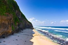 Bukit Beaches (Indonesia). 'Peering over the edge  of a cliff near Bingin  on Bali, you'll spot  yet another perfect hidden  white-sand cove, cooled by  mist from the awesome surf  breaks directly in front. Like  pearls on a string, these little  cove beaches dot the west  side of the Bukit Peninsula.' http://www.lonelyplanet.com/indonesia/bali