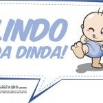 Plaquinhas para Chá de Bebê - Lindo da dinda