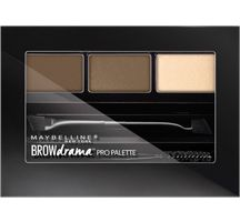 Eyebrow palette by Maybelline. Brow kit with sculpting wax, pigment and highlighting powder to create your best eyebrows.