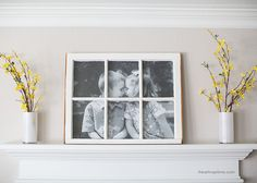 DIY Antique Window Picture Frame -great use for old windows! One of my neighbors was getting rid of some old windows a few months back and asked if I wanted some. Umm.. YES! I've seen so many fun ideas on Pinterest using old windows and knew I could figure out something to do with them. I …