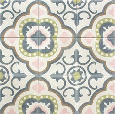 Marrakech design - love their tiles! Wall Patterns, Textures Patterns, Moroccan Art, Pink Tiles, Encaustic Tile, Vintage Tile, Style Tile, Room Accessories, Mosaic Tiles