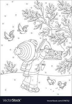 Feeder Birds Coloring Book Common Birds Coloring Book Homeschool Freebie Of The Day, Coloring Page Of A Bird Feeder How To Make Bird Feeders Bird, Appealing Coloring Pages Birds 73 With Additional Picture Coloring, House Colouring Pages, Bird Coloring Pages, Disney Coloring Pages, Christmas Coloring Pages, Coloring For Kids, Coloring Books, Common Birds, Bird Poster, Winter Quilts