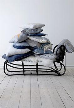 sierkussentjes - woondecoratie - blauw - grijs - wit