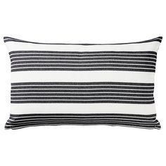IKEA - METTALISE, Cushion cover, white, dark grey, Cotton is a soft and easy-care natural material that you can machine wash. Colours are retained wash after wash thanks to the yarn-dyed cotton. The hidden zipper makes the cover easy to remove. Sofa Pillow Covers, Cushions On Sofa, Cushion Covers, Modern Cushions, Ikea Malm, Chenille Fabric, Grey Fabric, Ikea Sortiment, Tye Dye