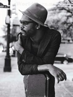 Gary Clarke Jr trying to catch a ride to the concert