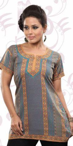 Designer Kurti Tunic Tops, Sari, Salwar Kameez, Lehnga Anarkali Kids wear kurties kurtis pashmina Men kurta sherwaniShort Sleeves Tunic #SS810
