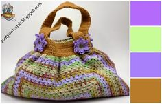 """Gorgeous Granny"" Bag Tutorial ༺✿ƬⱤღ  https://www.pinterest.com/teretegui/✿༻"