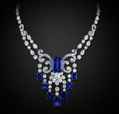 Graff Diamond and Sapphire Necklace