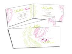 Exklusive Hochzeitseinladungen auf Strukturpapier - Sanft wie eine Feder. Edles Papier und einzigartiges, ausdrucksstrakes Design prägen diese Vermählungskarten.